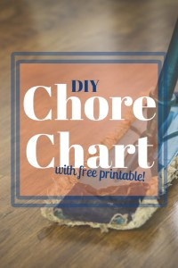 This easy to make chore chart will help you keep your house clean without having to do all the work yourself! It is time to delegate, momma! Includes a free printable with plenty of blank cards to write in your own chores.
