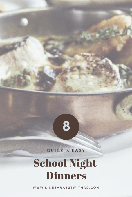 School nights can be rough trying to get to all the homework, bathtimes and bedtime routines finished. There is no time to worry about dinner! Try one of these easy school night dinners and everyone is happy!