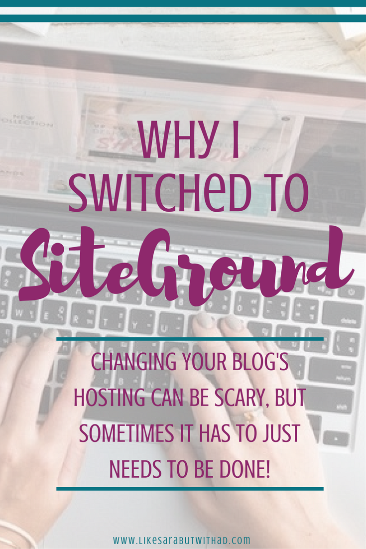 Changing your blog's hosting can be scary, but sometimes it just needs to be done!