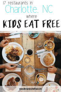 17 Restaurants in Charlotte where kids eat free