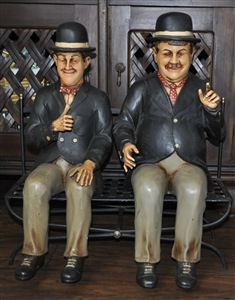 vintage posters for kitchen the home and store laurel hardy figures sitting on bench