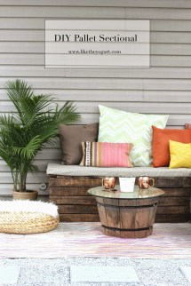 Diy Pallet Sectional Outdoor Furniture - Yogurt