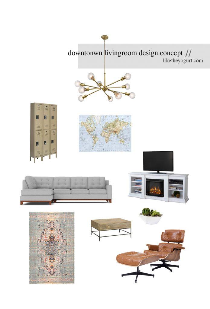 Downtown Living Room Design Concept  Like The Yogurt