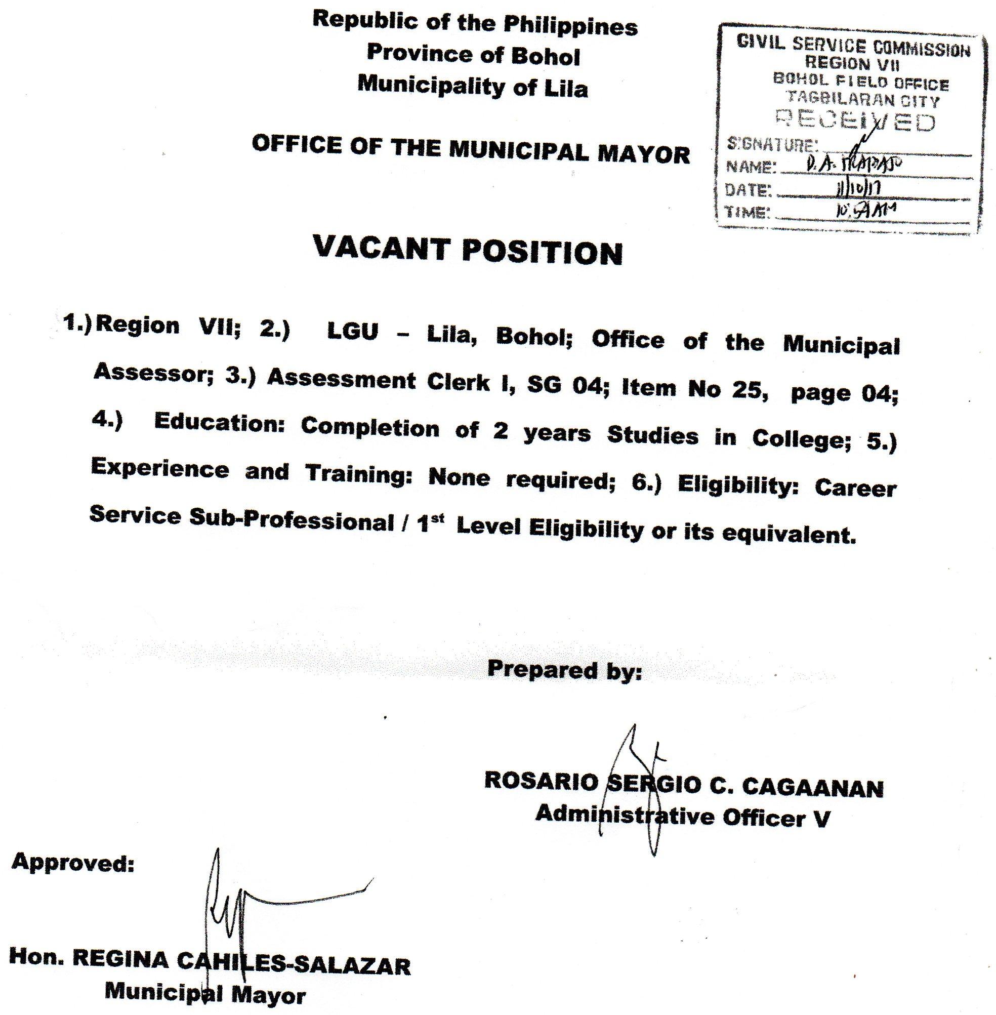 Municipality Of Lila Bohol News
