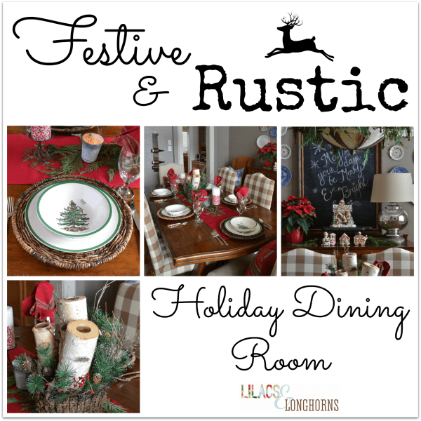 festive and rustic dining room