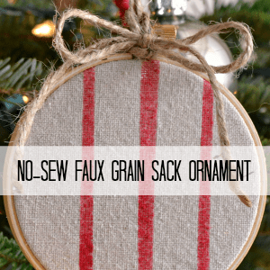 Faux Grain Sack Ornaments