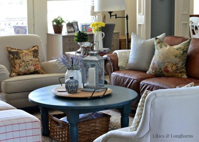 living room freshened up for summer