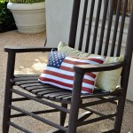 diy American flag pillow