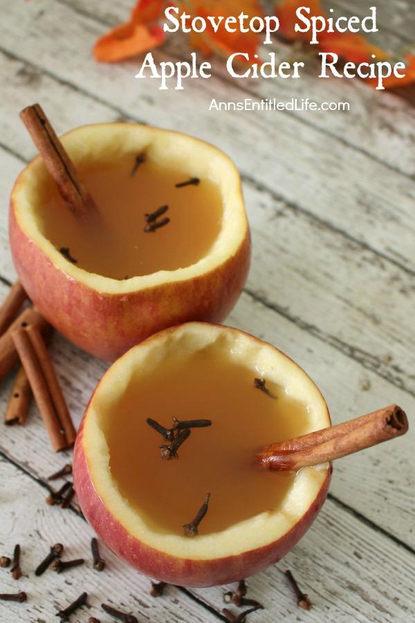 stovetop apple spiced cider recipe