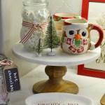 Christmas mugs and marshmallows
