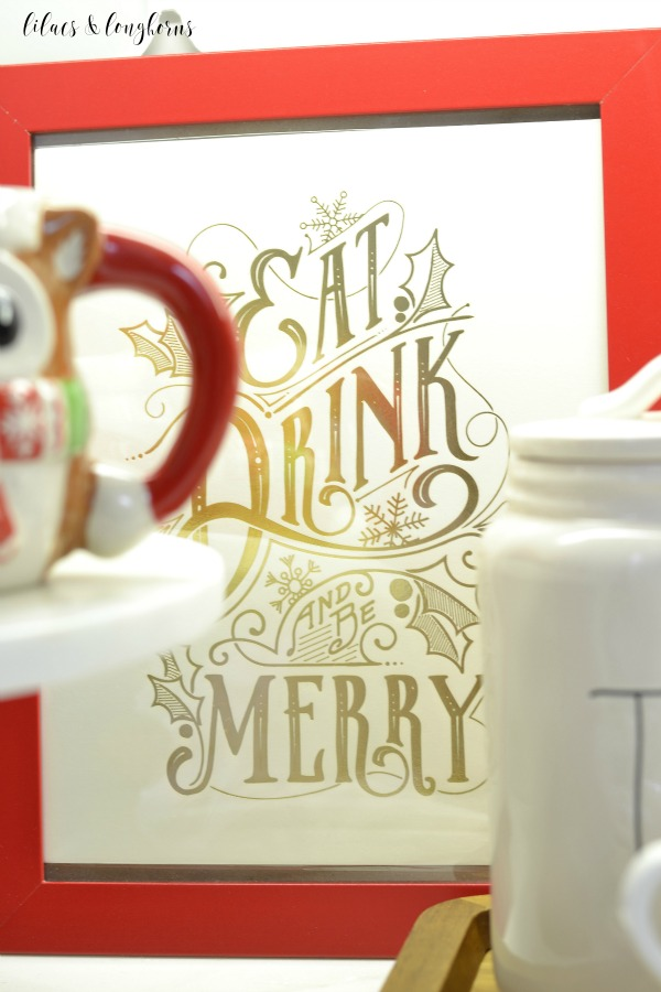 eat, drink and be merry sign from Minted.com / Lilacs and Longhorns