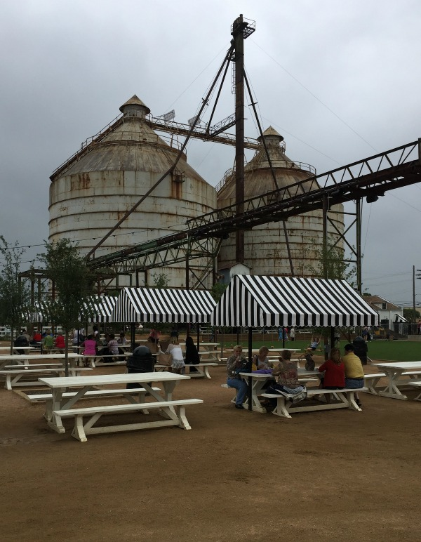 outdoor picnic area at The Silos Magnolia market