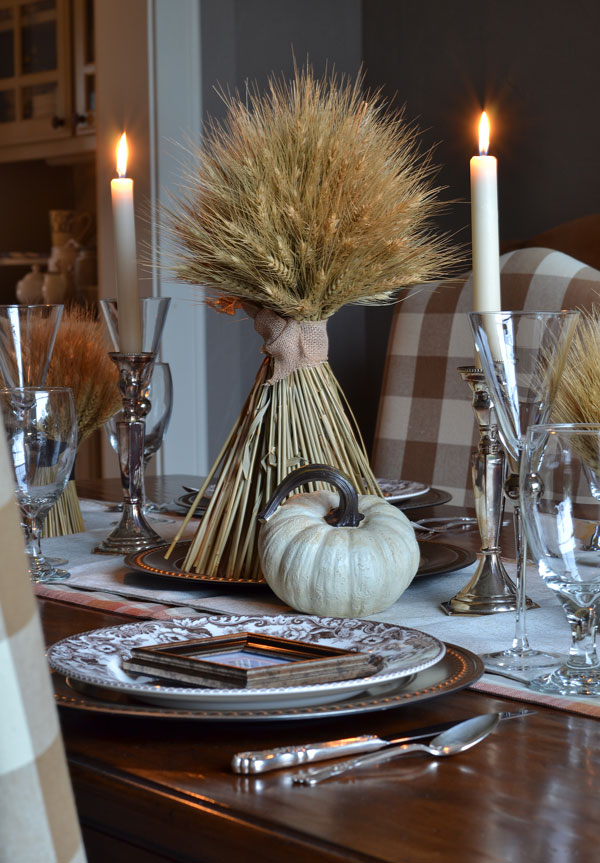 thanksgiving-table-with-spode-delamere-silver-candle-sticks-bundled-wheat