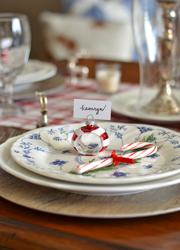 blue-and-white-dishes-with-greenery-and-candy-cane