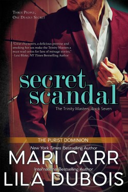 Cover for Secret Scandal (Trinity Masters, Book Seven)