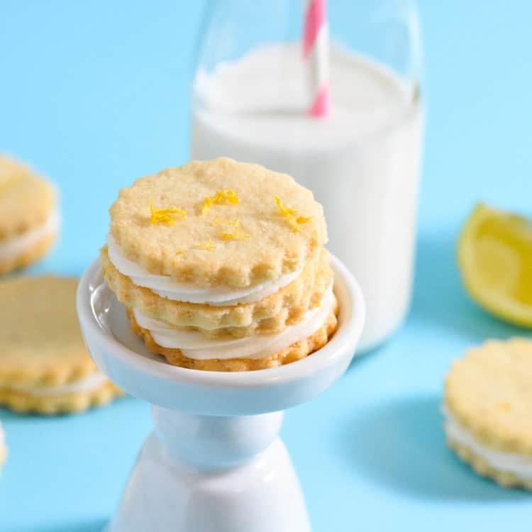 Lemon Creme Sandwich Cookies