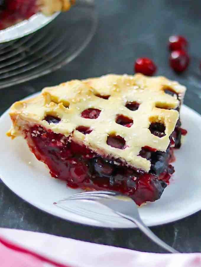 grain-free cran-cherry pie