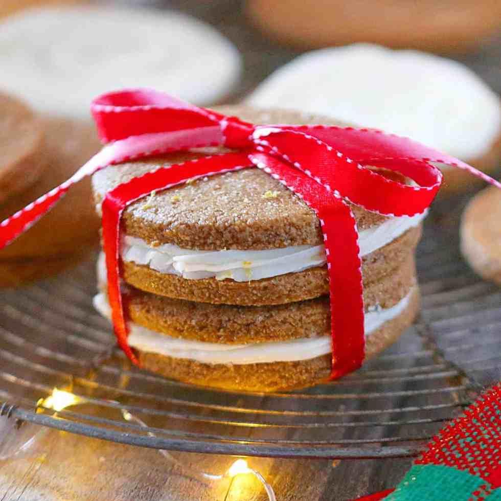 Lemon Gingerbread Sandwich Cookies
