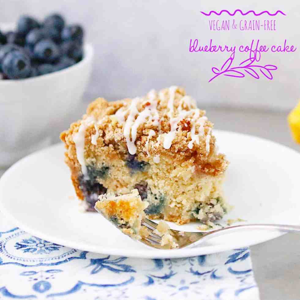 Vegan Blueberry Coffee Cake