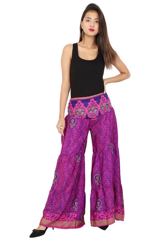 Silk Beachwear Casual Vintage Sari Silk Tops Tunics