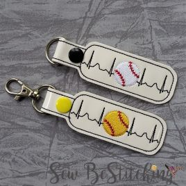 ITH – Baseball EKG snap tab fob 4×4 and 5×7 Grouped