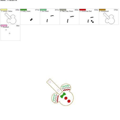 Gingerbread mouse snap tab 4×4