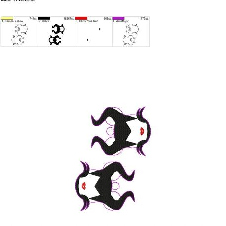 Mal-Witch-Ornament 5×7 grouped