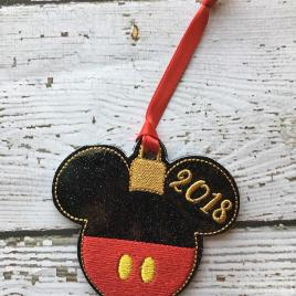 ITH Mister Mouse 2018 Ornaments 4×4 and 5×7 grouped included- Embroidery Design – DIGITAL Embroidery DESIGN