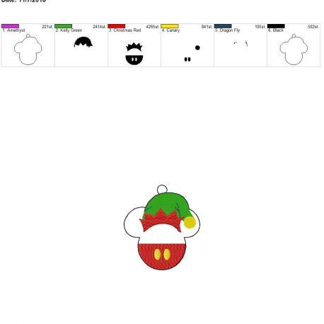 Mouse elf Ornament 4×4