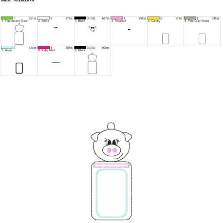 Pig id holder 5×7