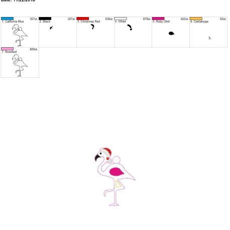 Santa Flamingo eyelet 4×4