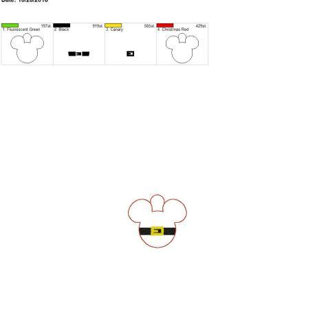 Santa mouse eyelet 4×4