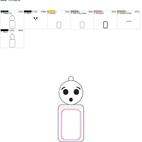 Smiley surprise face id holder 5×7