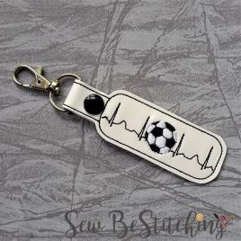 ITH Soccer ekg snap tab Fob 4×4 and 5×7 grouped included- Embroidery Design – DIGITAL Embroidery DESIGN