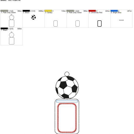 Soccer ID holder 5×7