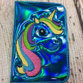 ITH Unicorn Business Card Holder – 5 x 7 – Embroidery Design – DIGITAL Embroidery DESIGN