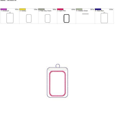 Vertical ID eyelet holder 5×7