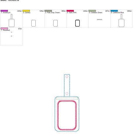 Vertical ID tab holder 5×7