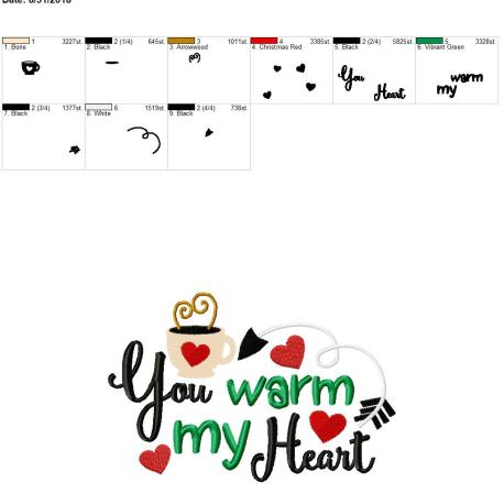 You warm my heart 6×10