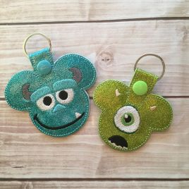 ITH – Best Friend Monster Duo Fobs 4×4 and 5×7 Grouped