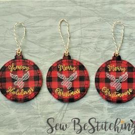 ITH Rustic Moose Holiday Ornaments 4×4 and 5×7 included- Embroidery Design – DIGITAL Embroidery DESIGN