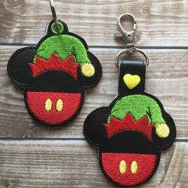 ITH Mouse Elf Snap Tab and eyelet Fobs 4×4 and 5×7 included- Embroidery Design – DIGITAL Embroidery DESIGN