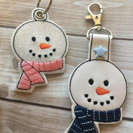 ITH Snowman Scarf eyelet and Snap Tab 4×4 and 5×7 included- Embroidery Design – DIGITAL Embroidery DESIGN