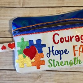 ITH – Autism Awareness Zipper Bag 5×7 only