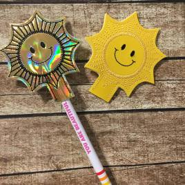 ITH Sun Pencil Topper 4×4 and 5×7 included- Embroidery Design – DIGITAL Embroidery DESIGN