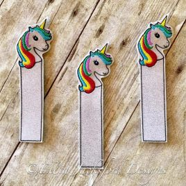 ITH – Unicorn Bookmark 4×4 and 5×7 Grouped