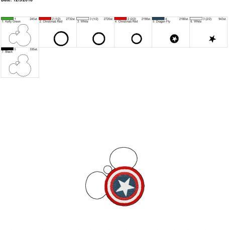American Hero Mouse Ornament 4×4