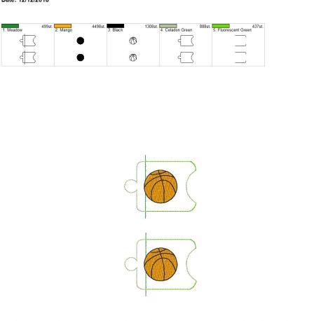Basketball sanitizer holder eyelet 5×7 grouped