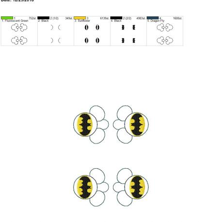 Bat Hero Mouse Eyelet 5×7 grouped