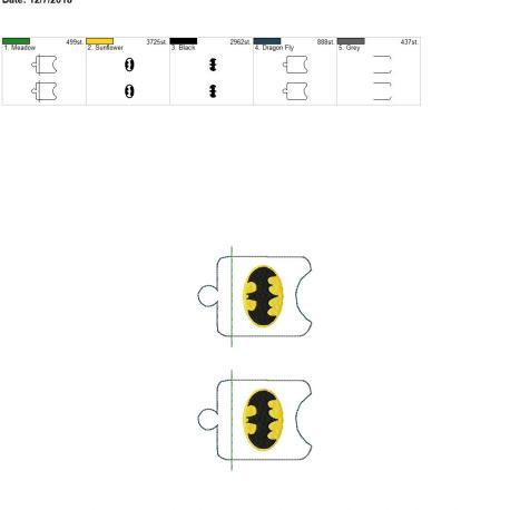 Bat Hero Sanitizer Holder eyelet 4×4 grouped